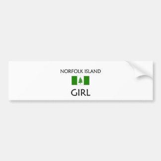 NORFOLK ISLAND GIRL BUMPER STICKER