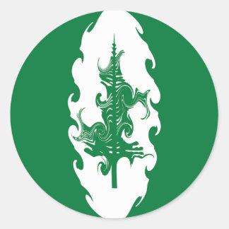 Norfolk Island Gnarly Flag Round Sticker