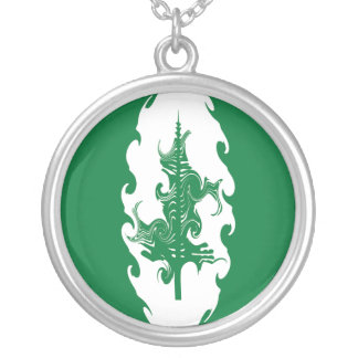 Norfolk Island Gnarly Flag Silver Plated Necklace