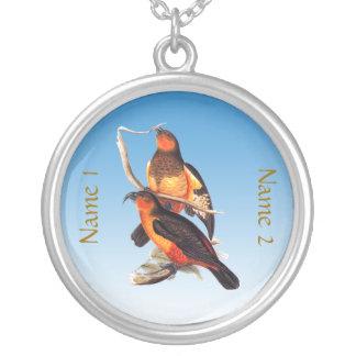 Norfolk Island Kaka Round Pendant Necklace