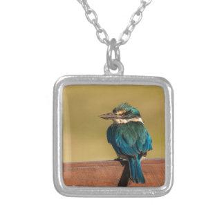 Norfolk Kingfisher Square Pendant Necklace