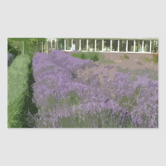 NORFOLK LAVENDAR-HEACHAM RECTANGULAR STICKER