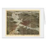 Norfolk, mapa panorámico del VA - 1891 Felicitaciones