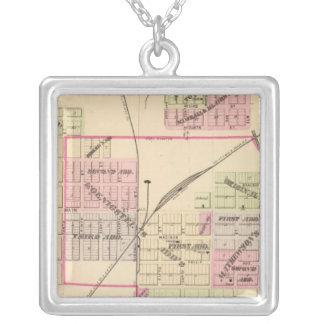 Norfolk, Nebraska Square Pendant Necklace