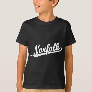 Norfolk script logo in white T-Shirt