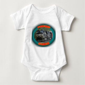 Norfolk & Southern Locomotive Baby Bodysuit