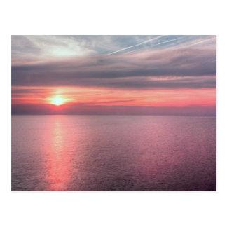 Norfolk summer sunset postcard