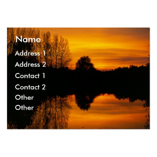Norfolk Sunset | Business Cards