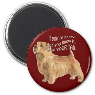 norfolk terrier 2 inch round magnet