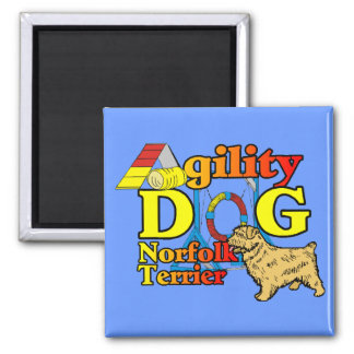 Norfolk_Terrier_Agility 2 Inch Square Magnet