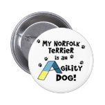 Norfolk Terrier Agility Dog Buttons