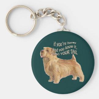 norfolk terrier basic round button keychain