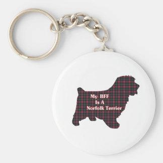 Norfolk Terrier BFF Gifts Basic Round Button Keychain