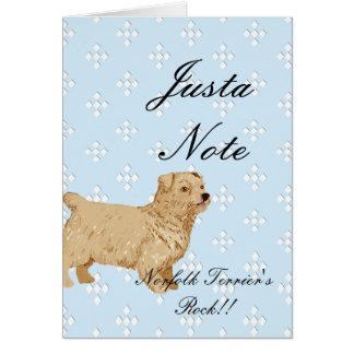 Norfolk Terrier - Blue w/ White Diamond Design Card