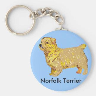 Norfolk Terrier - Body left Basic Round Button Keychain