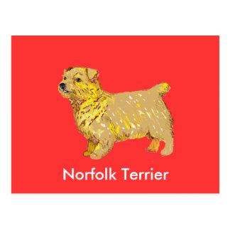 Norfolk Terrier - Body left Postcard