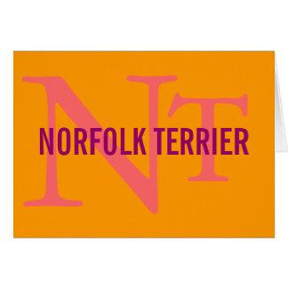Norfolk Terrier Breed Monogram Card