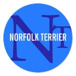 Norfolk Terrier Breed Monogram Classic Round Sticker