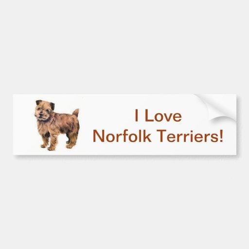Norfolk Terrier Bumper Stickers