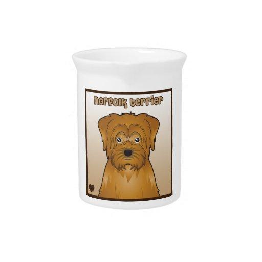 Norfolk Terrier Cartoon Beverage Pitcher