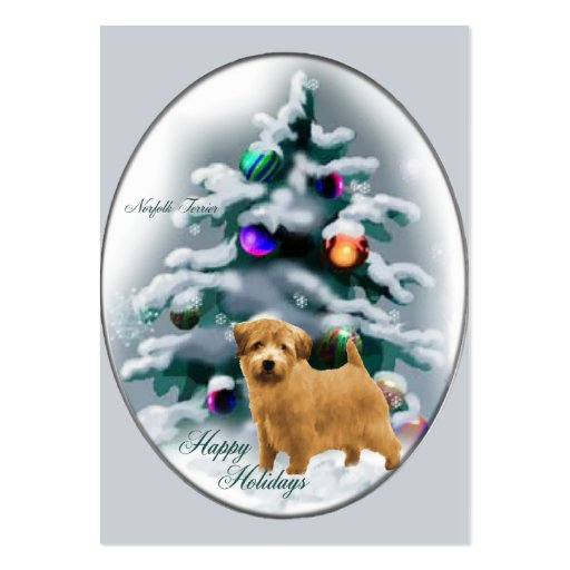 Norfolk Terrier Christmas Gifts Business Card Template