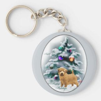 Norfolk Terrier Christmas Gifts Keychain