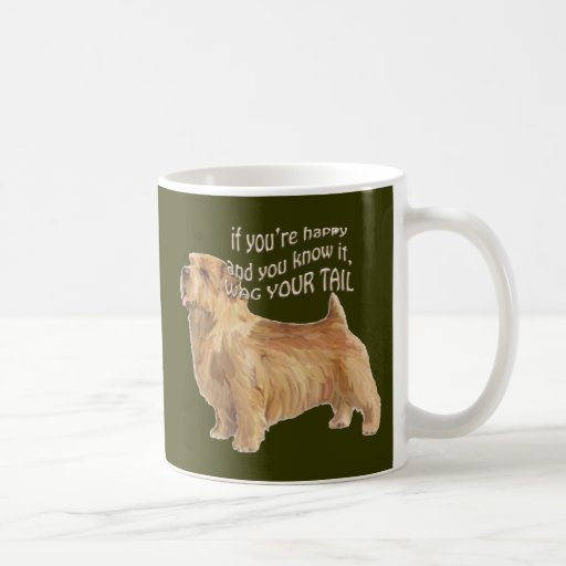 norfolk terrier classic white coffee mug