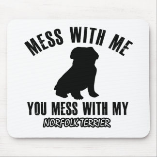 Norfolk terrier designs mouse pad