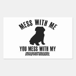 Norfolk terrier designs rectangular sticker