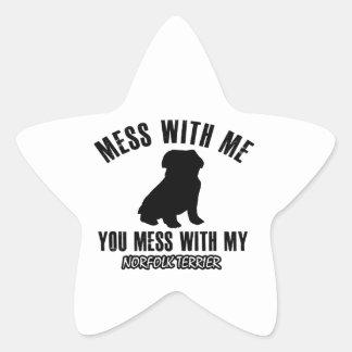 Norfolk terrier designs star sticker