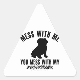 Norfolk terrier designs triangle sticker