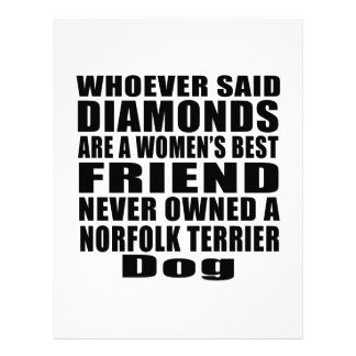 NORFOLK TERRIER DOG BEST FRIEND DESIGNS LETTERHEAD
