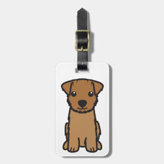 Norfolk Terrier Dog Cartoon Luggage Tag