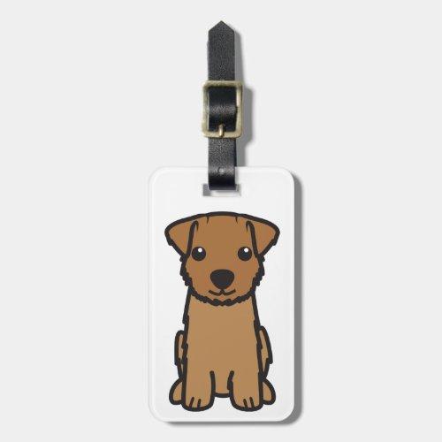 Norfolk Terrier Dog Cartoon Luggage Tag