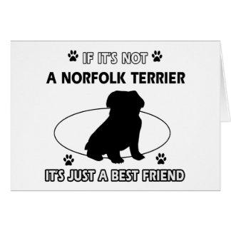 NORFOLK TERRIER dog designs Card