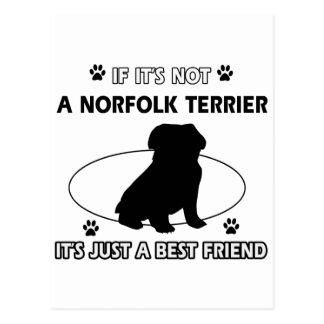 NORFOLK TERRIER dog designs Postcard