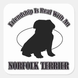 NORFOLK TERRIER DOG DESIGNS SQUARE STICKER