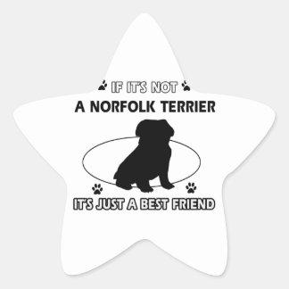 NORFOLK TERRIER dog designs Star Sticker