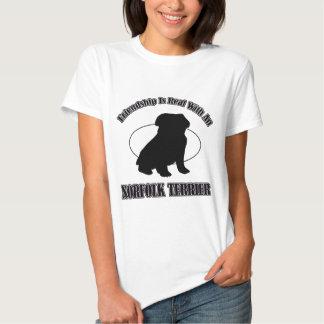 NORFOLK TERRIER DOG DESIGNS T SHIRT