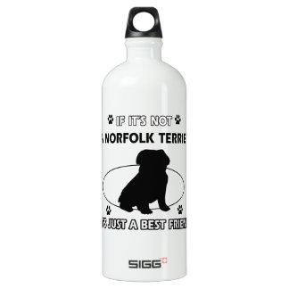 NORFOLK TERRIER dog designs Water Bottle
