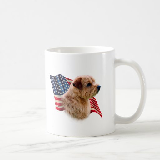Norfolk Terrier Flag Classic White Coffee Mug