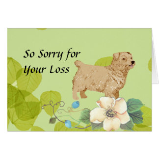 Norfolk Terrier ~ Green Leaves Design Card