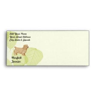 Norfolk Terrier ~ Green Leaves Design Envelope