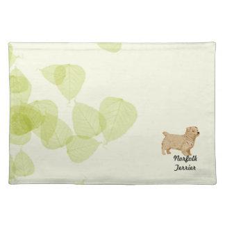 Norfolk Terrier ~ Green Leaves Design Placemat