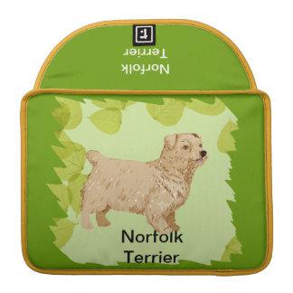 Norfolk Terrier ~ Green Leaves Design Sleeve For MacBooks