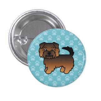 Norfolk Terrier Grizzle Chapa Redonda 2,5 Cm