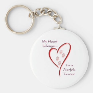 Norfolk Terrier Heart Belongs Key Chains