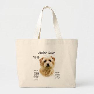Norfolk Terrier History Design Large Tote Bag