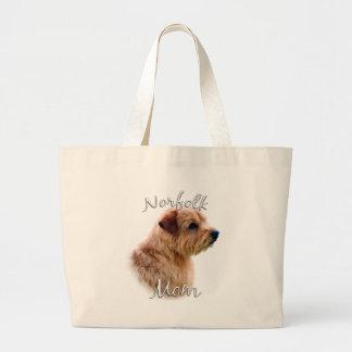 Norfolk Terrier Mom 2 Large Tote Bag