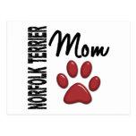 Norfolk Terrier Mom 2 Post Card